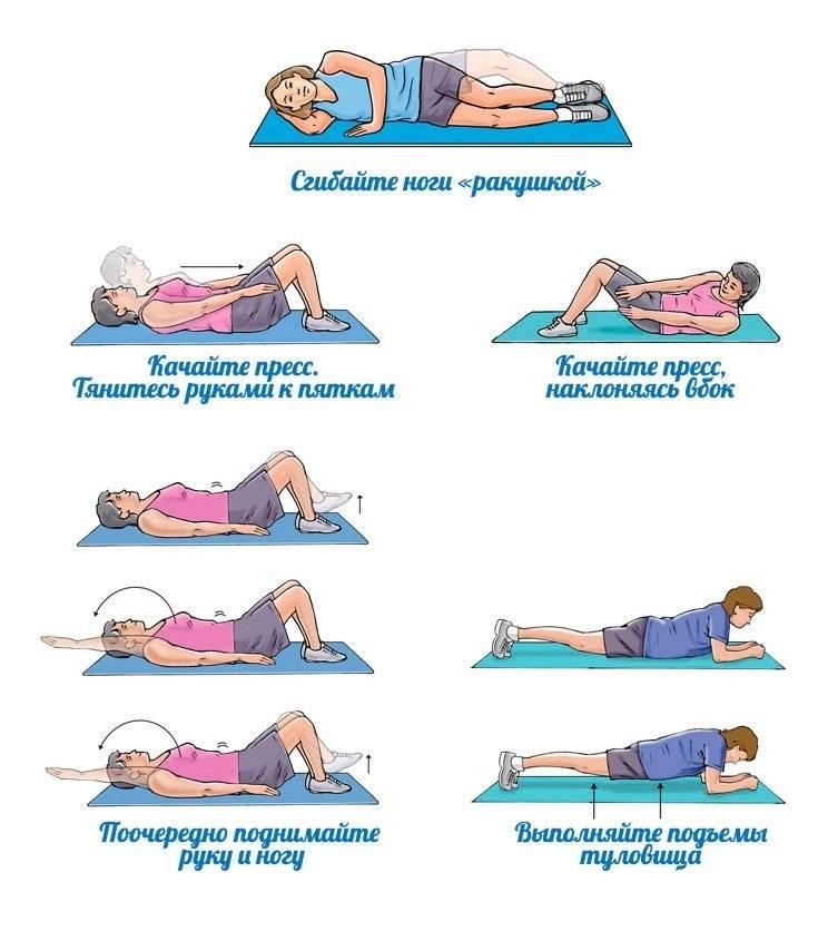 как убрать живот упражнениями для девушек