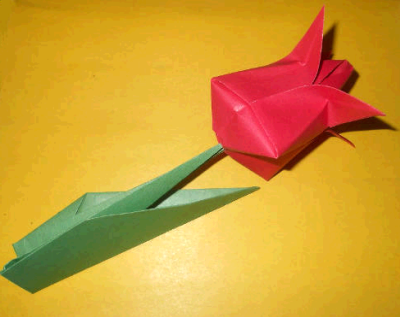 Тюльпан из бумаги своими руками не оригами