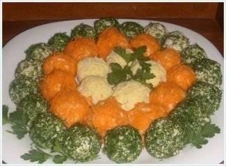 Салат - колобки из сыра